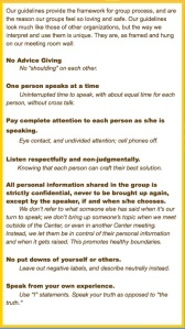 Group Sharing Guidelines